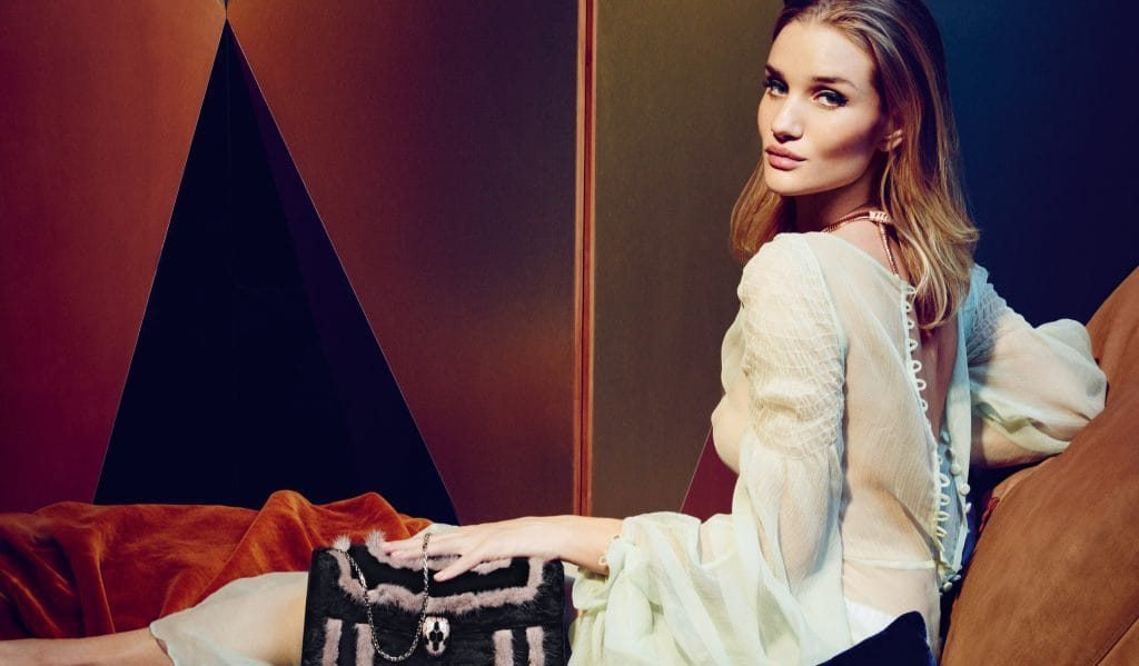 BULGARI NEW ACCESSORIES AMBASSADOR ROSIE HUNTINGTON-WHITELEY