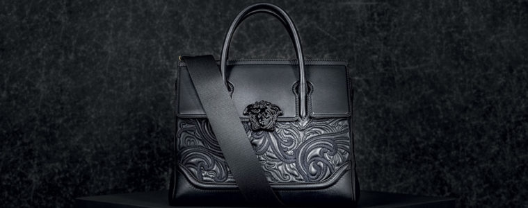 VERSACE EMBROIDERED BAROQUE PALAZZO EMPIRE HANDBAG COLLECTION