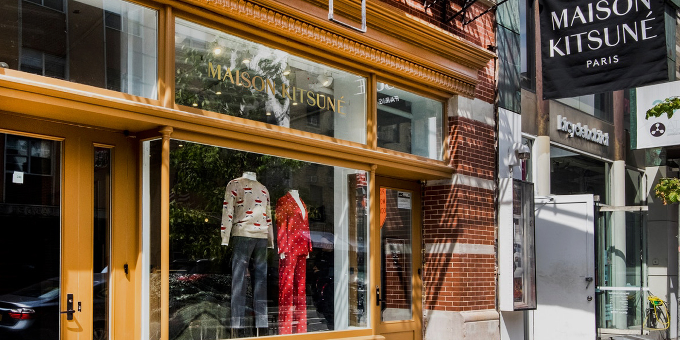 Maison kitsun flagship store in new york les fa ons for Maison a new york