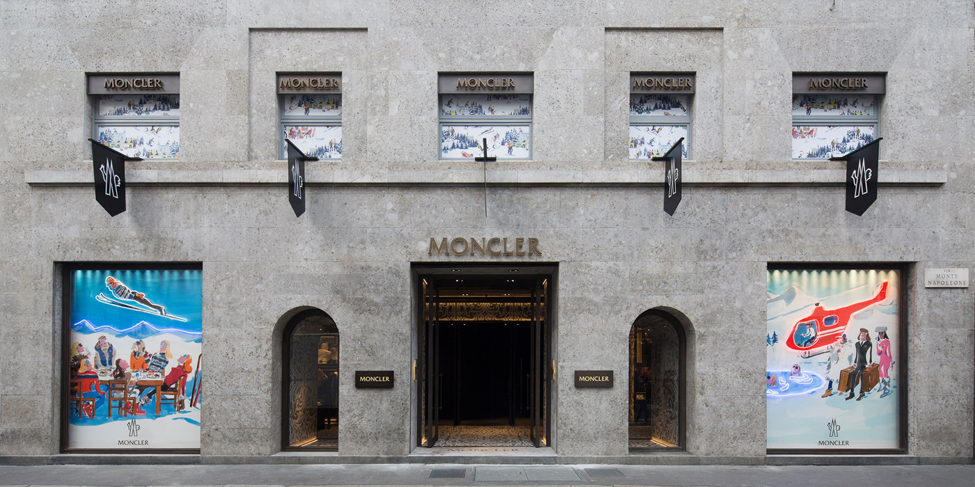 MONCLER LARGEST GLOBAL FLAGSHIP STORE IN MILAN