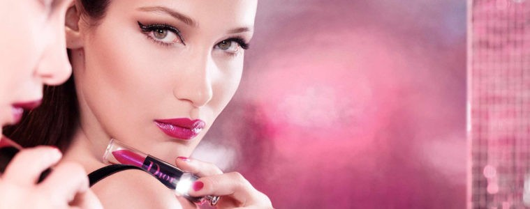 CHRISTIAN DIOR ADDICT LACQUER PLUMP COLLECTION FILM STARRING BELLA HADID
