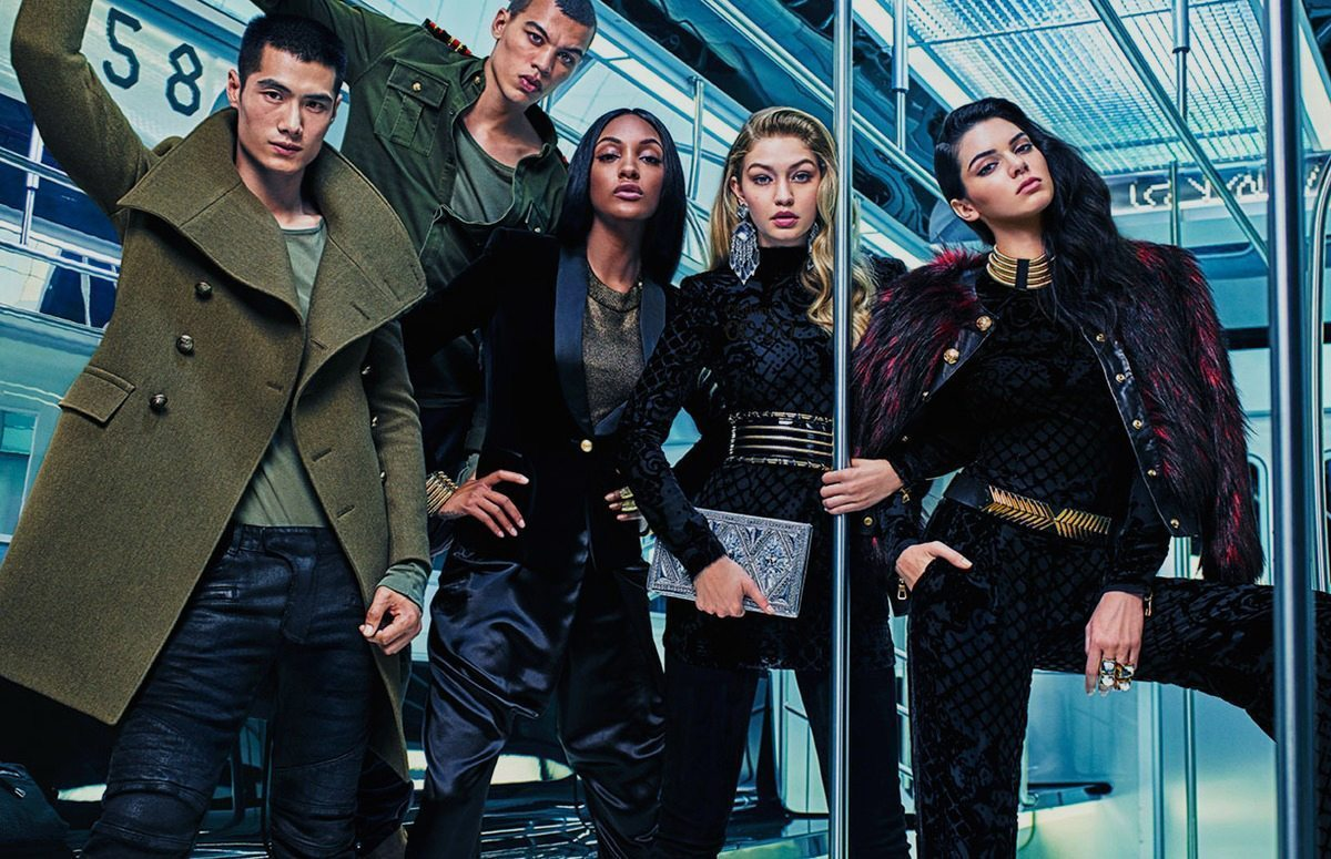 BALMAIN X HM COLLECTION AD CAMPAIGN