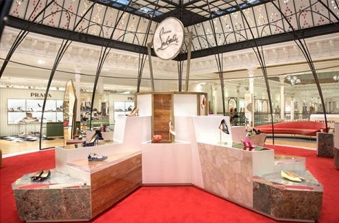 CHRISTIAN LOUBOUTIN BOUTIQUE AT LE BON MARCHE IN PARIS1