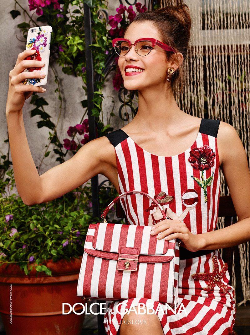 bdd5fb8ca71 Dolce   Gabbana Spring 2016 Eyewear Ad Campaign