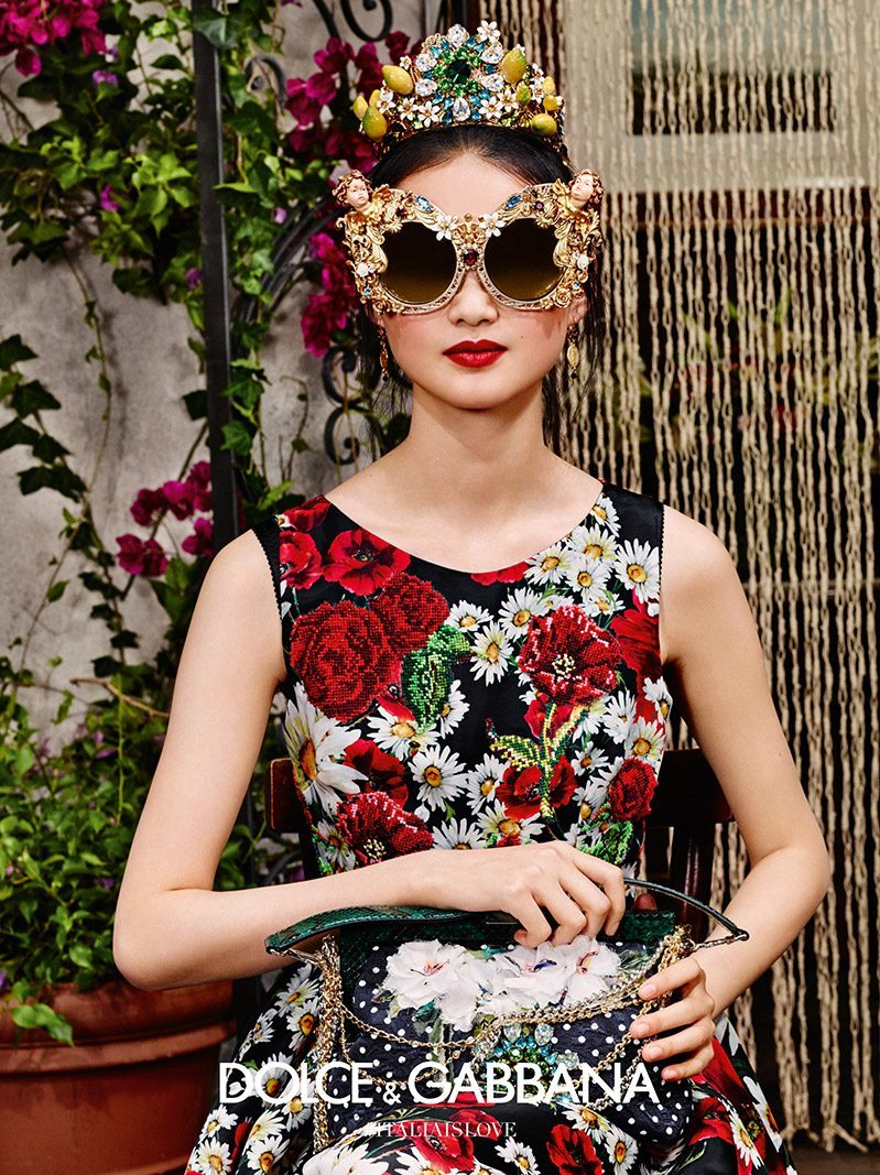 50d1142c09c5 Dolce   Gabbana Spring 2016 Eyewear Ad Campaign