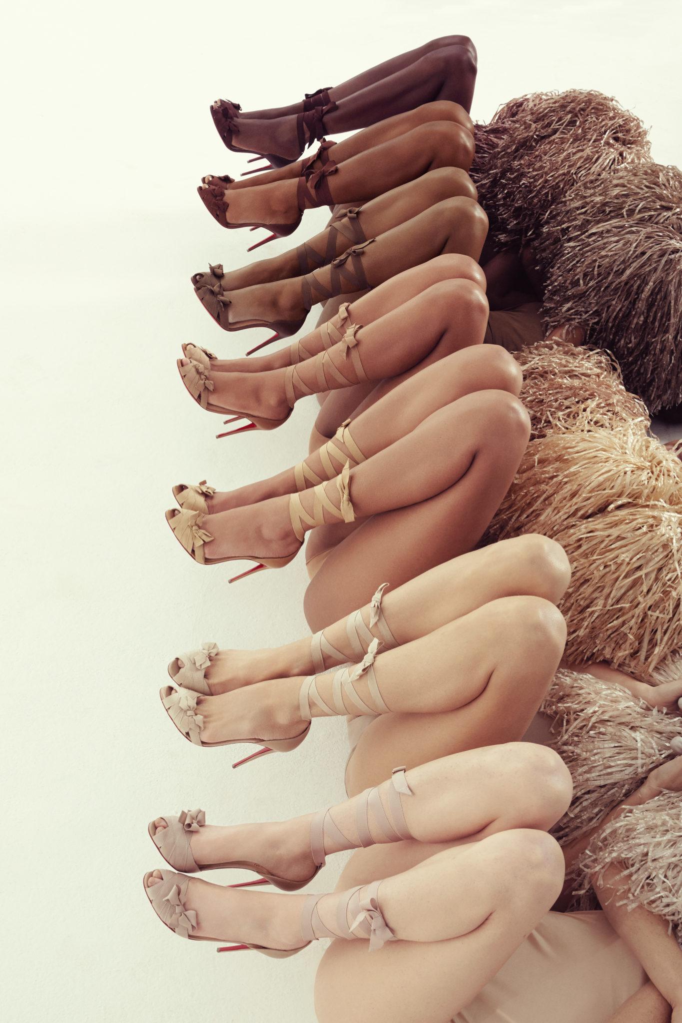 Christian louboutin nude flats skin tones