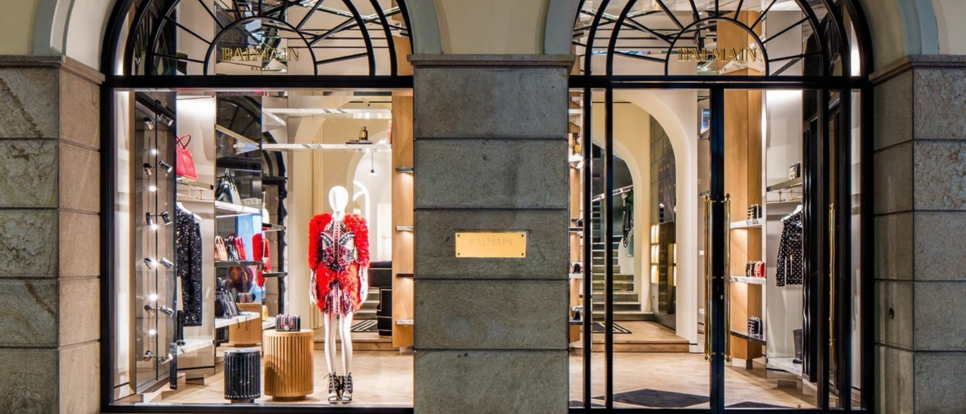 BALMAIN FIRST ITALIAN FLAGSHIP STORE IN MILAN