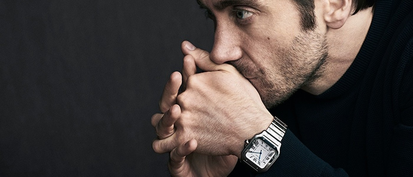 CARTIER SANTOS DE CARTIER TIMEPIECE COLLECTION FILM STARRING JAKE GYLLENHAAL