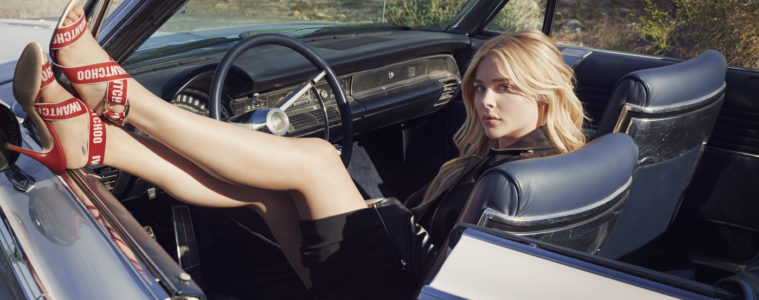 JIMMY CHOO SPRING 2018 COLLECTION FEATURING CHLOE GRACE MORETZ