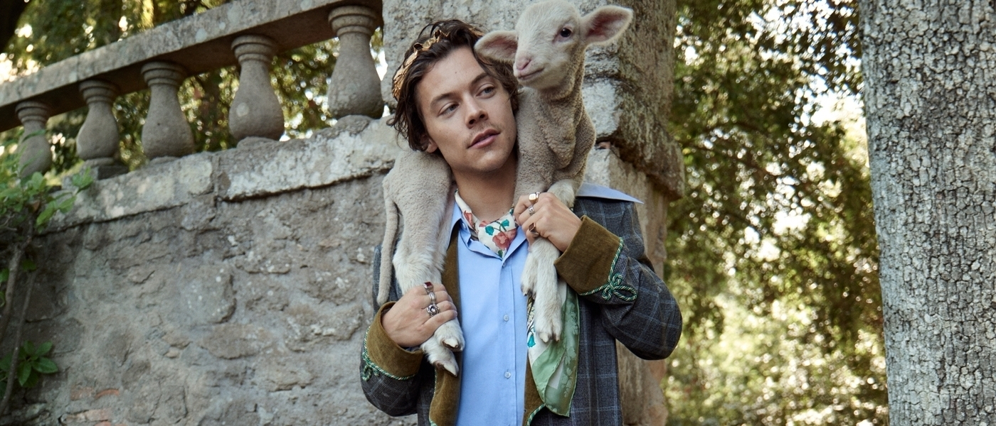 GUCCI RESORT 2019 MEN'S TAILORING AD CAMPAIGN FEATURING HARRY STYLES